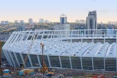 Aufbau von Kyivs Stadion-Fußball UEFA Stockbild