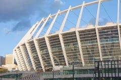 Aufbau von Kyivs Stadion-Fußball UEFA Stockfoto