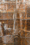 Aufbau von Sagrada familia Lizenzfreies Stockbild