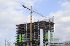 Aufbau von Wohnbu Lizenzfreies Stockbild