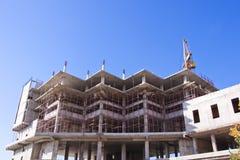 Aufbau von Wohnbu Stockbilder