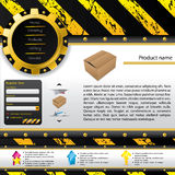Aufbauauslegungweb-Schablone Lizenzfreies Stockfoto