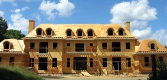 Aufbauen der Villa stockbild