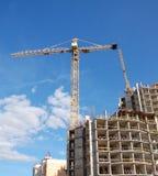 Aufbauen eines Gebäudes Stockbild