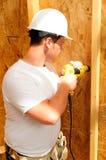 Aufbauen eines Hauses stockfotos