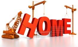 Aufbauen eines Hauses lizenzfreie abbildung