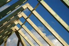 Aufbauen eines Hauses Stockbild