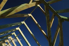 Aufbauen eines Hauses Lizenzfreies Stockfoto