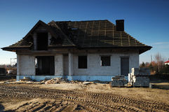 Aufbauen eines Hauses Stockfotografie