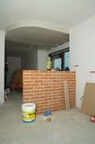 Aufbauen eines Hauses Stockbilder