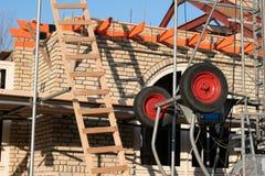 Aufbauen eines Hauses Lizenzfreie Stockbilder