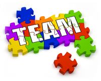 Aufbauen eines Teams Stockbild
