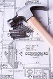 Aufbauen unseres neuen Hauses Stockbilder