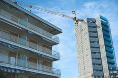 Aufbauende hohe Anstieghotels Stockfotos