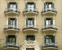 Aufbauendes Äußeres, Barcelona Stockbild