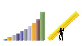 Aufbauendes besseres Geschäft Stockbilder