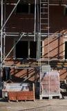 Aufbauendes neues Haus Stockfotografie