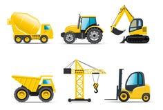 Aufbaumaschinen Stockbild
