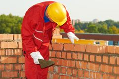 Aufbaumaurer-Arbeitskraftmaurer Lizenzfreie Stockfotografie
