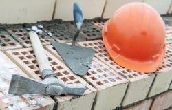 Aufbaumaurerausrüstung lizenzfreies stockfoto