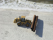 Aufbaurohre - Strand Stockfotos