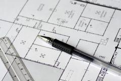 Aufbauzeichnung Lizenzfreies Stockbild