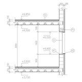 Aufbauzeichnung, Fensterdetail Stockbilder