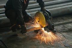 Aufbereiten des Metalls Stockfotografie