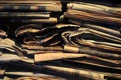 Aufbereitete Zeitungen Lizenzfreies Stockbild