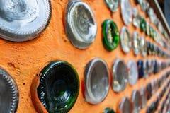 Aufbereiteter Flaschenbalkon lizenzfreies stockfoto