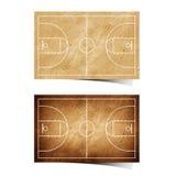 Aufbereitetes Papier des Grunge Basketballs Feld Lizenzfreie Stockfotografie