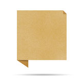 Aufbereitetes Papier des Luftblasengespräches origami. Stockbild
