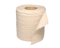 Aufbereitetes Toilettenpapier Stockfotografie