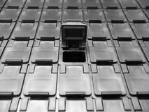 Aufbewahrungsbehälter des elektronischen Bauelements Lizenzfreie Stockfotografie