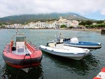 Aufblasbare Boote stockbild