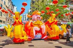 Aufblasbare Installation auf Chinesischem Neujahrsfest, Rangun, Myanmar stockfoto