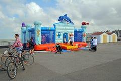 Aufblasbarer federnd Schloss Funfair Lizenzfreies Stockbild