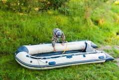 Aufblasbares Boot lizenzfreies stockfoto