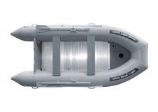 Aufblasbares Boot mit Pfad stockbild