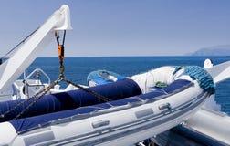 Aufblasbares Floß, Galapagos-Inseln Lizenzfreie Stockbilder
