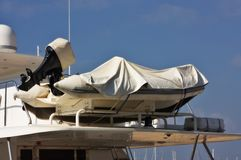 Aufblasbares Rettungsboot stockfotografie