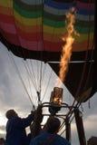 Aufblasen des Heißluft-Ballons Stockbild