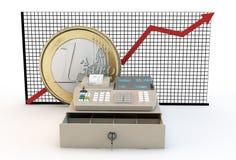 Aufblasen und Euro stock abbildung