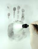 Aufdecken der Fingerabdrücke Lizenzfreie Stockfotos