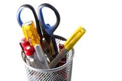 Aufenthalt organisiert - Büro-Werkzeuge Stockfotos
