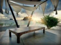 Aufenthaltsraum auf einem Strand lizenzfreies stockfoto