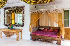 Aufenthaltsraum des Balineselandhauses lizenzfreies stockfoto