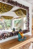 Aufenthaltsraum des Balineselandhauses lizenzfreies stockbild