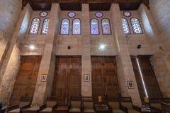 Aufenthaltsraum am Mausoleum von Sultan al Ghouri, Kairo, Ägypten lizenzfreies stockfoto
