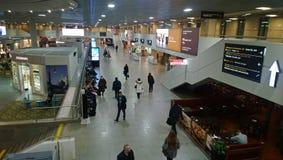 Aufenthaltsraum in Pulkovo-Flughafen lizenzfreie stockbilder